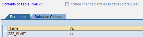 Dynamic variant of a ABAP Program